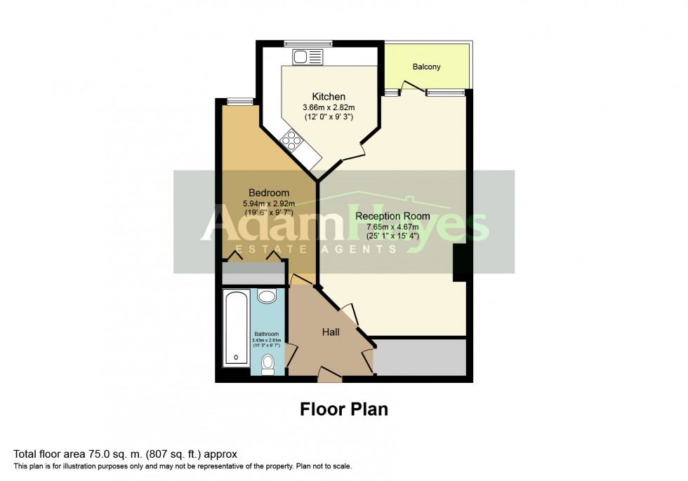 Floorplan for Bedford Road, East Finchley, N2