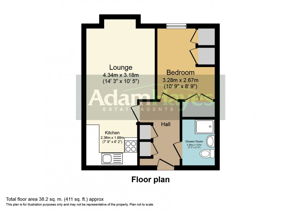 Floorplan for Kings Lodge, North Finchley